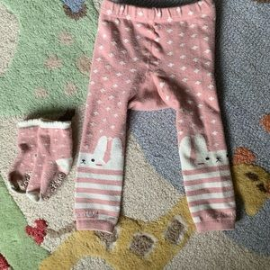 Other - Warm Bunny leggings with matching socks